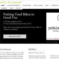Pedals for Progress – SBNR Daily 2-16-11