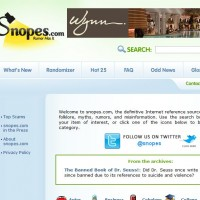 Snopes – SBNR Daily 2-8-11