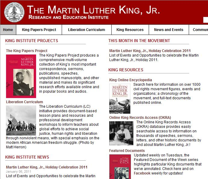 The martin luther king jr research and education institute