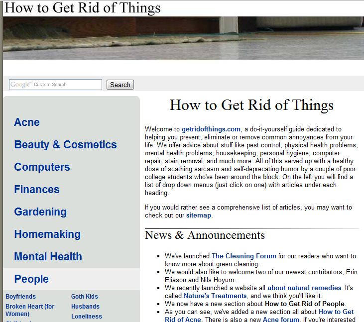 Spiritual but not religious news for 2 15 11 for How to get rid of things